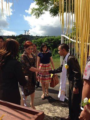 Wakil Wali Kota Tomohon Syerly Adelyn Sompotan di GMIM Kanaan Uluindano