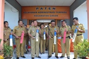 Walikota Bitung Max Lomban, Pelayanan Administrasi Terpadu Kecamatan , PATEN,