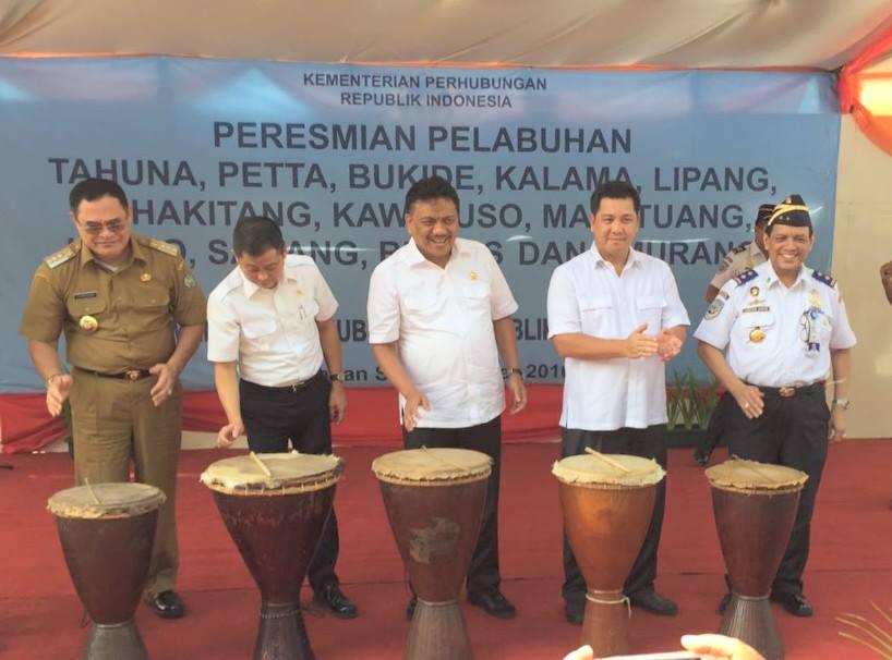 Peresmian 12 Proyek Pelabuhan di Sulawesi Utara