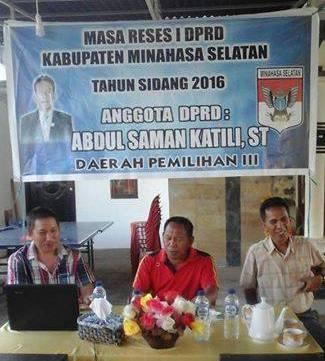 Reses Anggota DPRD Minsel Abdul Salman Kaatili di dapil 3