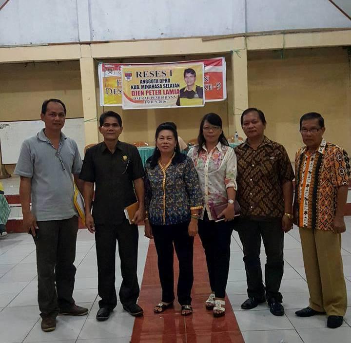 Reses Anggota DPRD Minsel Djen Lamia di Dapil 5