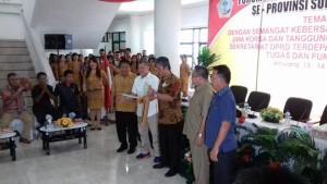 Dibuka Wakil Bupati Minsel, Forkom Sekwan di DPRD Minsel Semarak