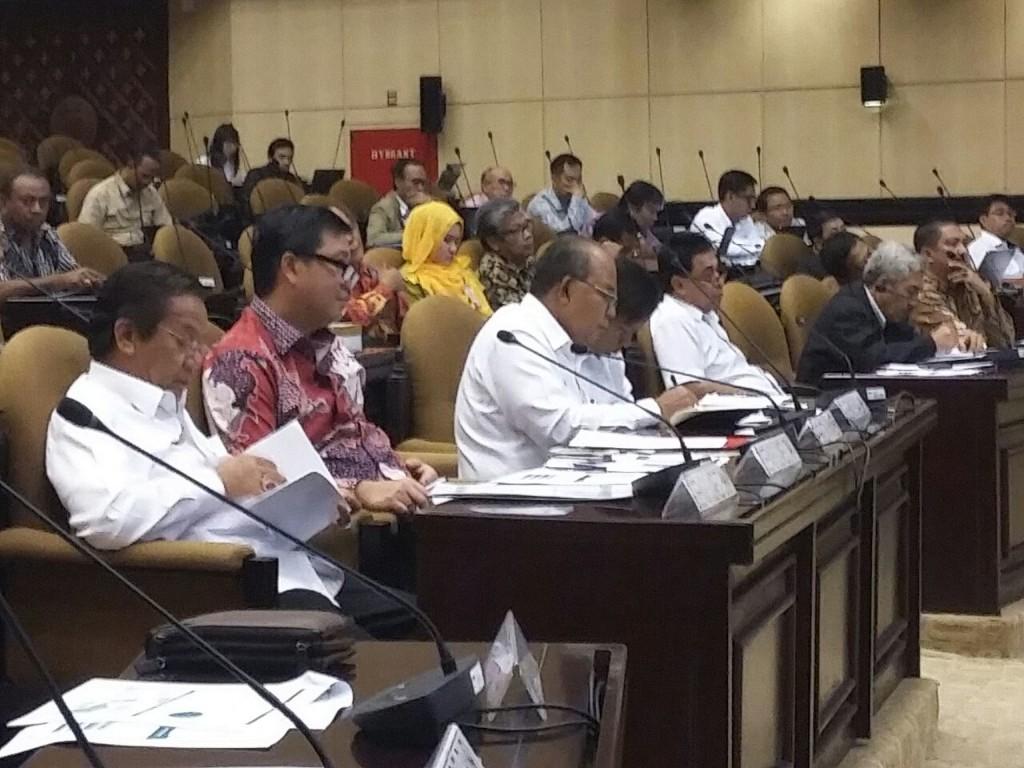 Wagub Sulut, Steven Kandouw, ketika memberikan pendapatnya tentang kellistrikan di Sulut, di Rakornas bersama Komisi II DPD-RI di Jakarta