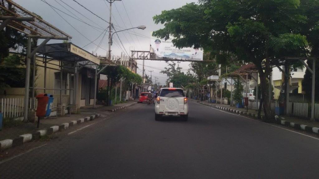 salah satu ruas jalan yang akan diperlebar