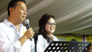 Wali Kota Tomohon Jimmy F Eman SE Ak dan Wakil Wali Kota Syerly Adelyn Sompotan
