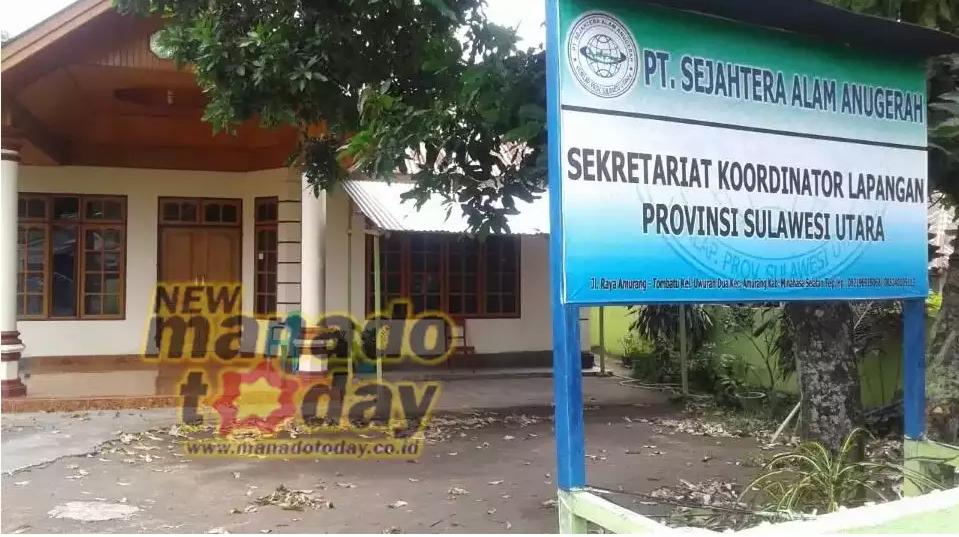 Kantor PT SAA di Jalan raya tombatu Uwuran Satu Kecamatan Amurang