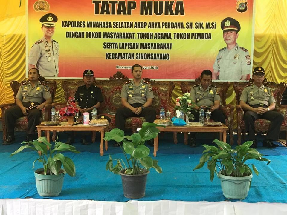 Kapolres Minsel , AKBP Arya Perdana, SH ,Kecamatan Sinonsayang
