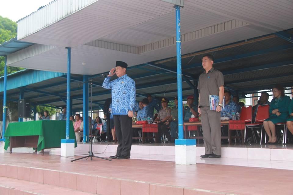 Wali Kota Bitung Max Lomba Irup di Upacara Korpri