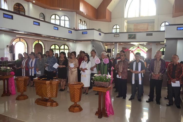 Pelantikan Panitia Pertemuan Lansia Rayon Tomohon