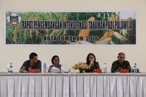 Bidik Swasembada Pangan 2016, Distanakan Tomohon Rakor Intensifikasi Padi dan Palawija