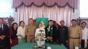 Wakil Bupati, Frangky Wongkar SH, GMIM Lompad Baru, Pdt Hein Arina,