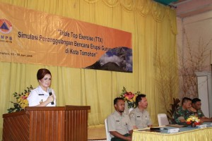 Pemkot Tomohon-BNPB Gelar Simulas Bencana Letusan Gunung Lokon
