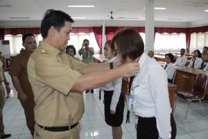 Wagub Sulut Steven Kandouw, ketika membuka Diklat teknis SAP berbasis akrual angkatan I, yang dilaksanakan di Badan Diklat Provinsi Sulut