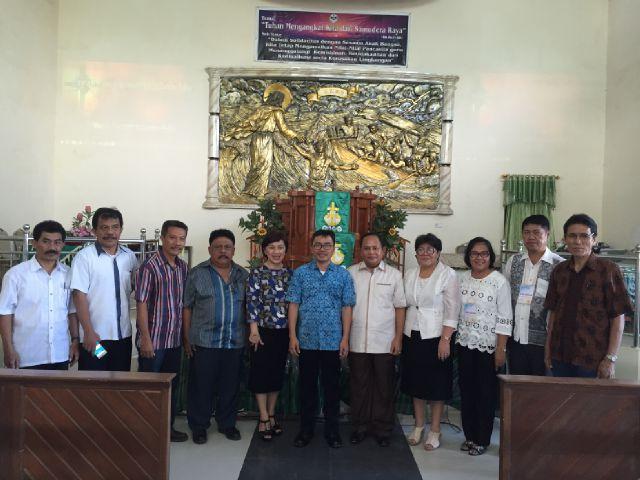 Foto bersama usai LK3G di GMIM Damai Bukit Moria Singkil Wilayah Manado Wawonasa Kombos