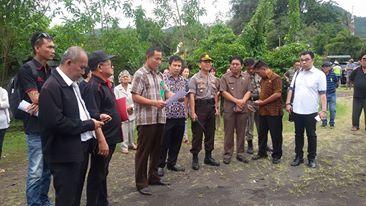 Pembacaan surat eksekusi oleh Pengadilan Negeri Tondano