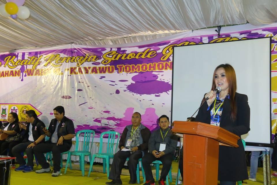 Wakil Wali Kota Tomohon yang juga Ketua Panitia Perkemahan Kreatif Remaja GMIM