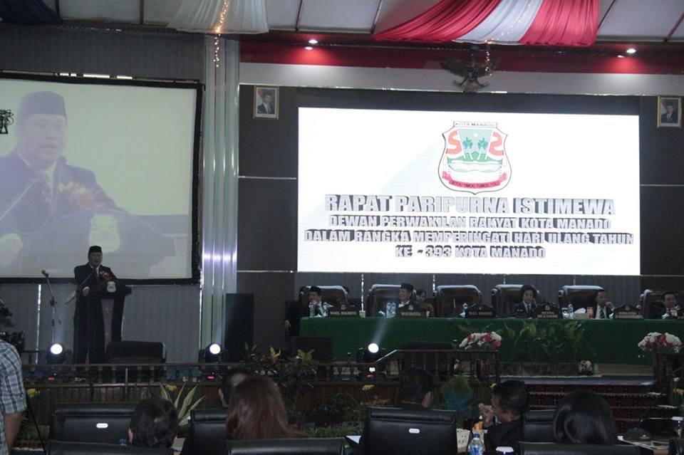 HUT manado,  Steven Kandouw, Icon Sulawesi Utara