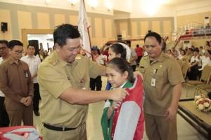Kandouw Lepas Kontingen Jumbara PMR Sulut