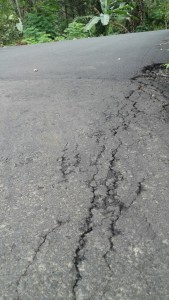 Ruas jalan yang sudah rusak