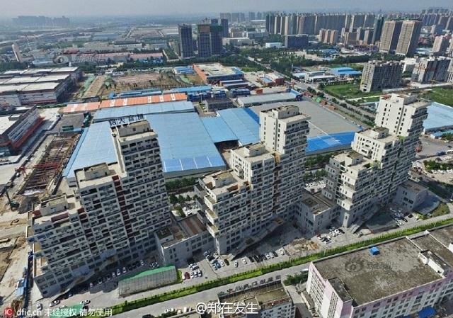 arsitektur aneh, gedung aneh, gedung tetris,Zhengzhou