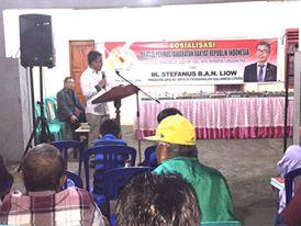 Senator Ir Stefanus BAN Liow Sosialisasi Empat Pilar MPR-RI di Tomohon Selatan