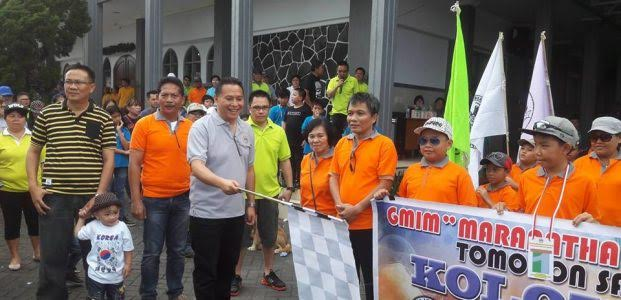 Wali Kota Jimmy F Eman SE Ak membuka rangkaian kegiatan HUT GMIM Maranatha Paslaten