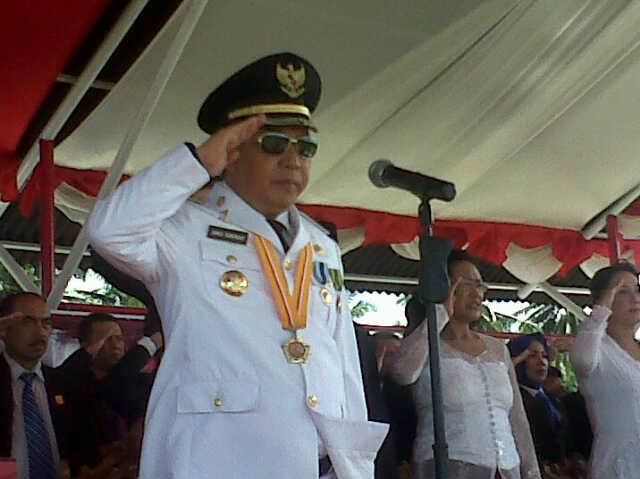 Bupati James Sumendap SH saat menjadi Irup Peringatan HUT ke-71 Proklamasi RI di Mitra