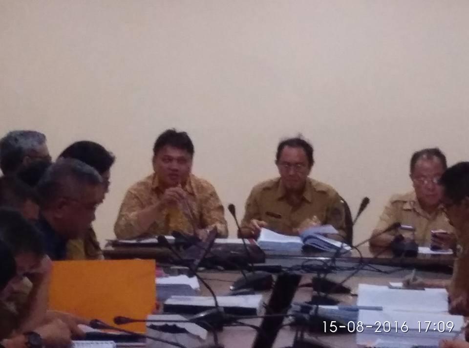 Konsultasi dan koreksi RPJMD KOta Tomohon 2016-2021 di Pemprov Sulut