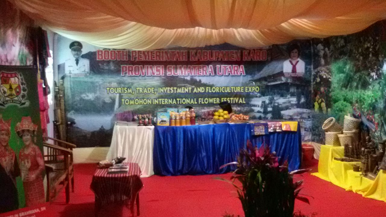 Stand Kabupaten Karo menampilkan potensi daerah di Pameran TIFF 2016