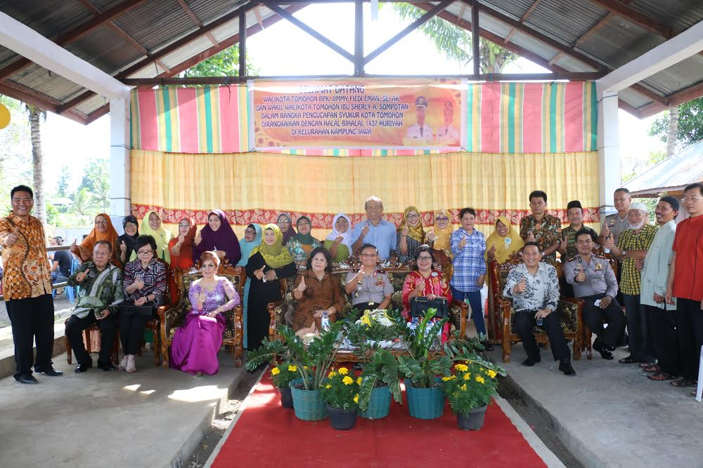 Pengucapan Syukur dan Halal Bi Halal di Kampung Jawa Tomohon