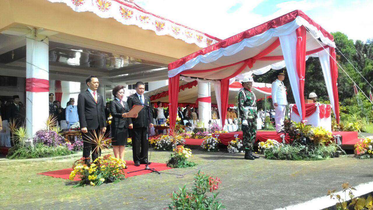Pimpinan DPRD Tomohon di Upacara Detik-detik Proklamasi