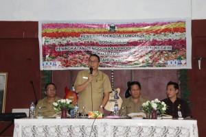 Wali Kota Tomohon, Jimmy F Eman SE Ak , produk dalam negeri, Disperindag tomohon