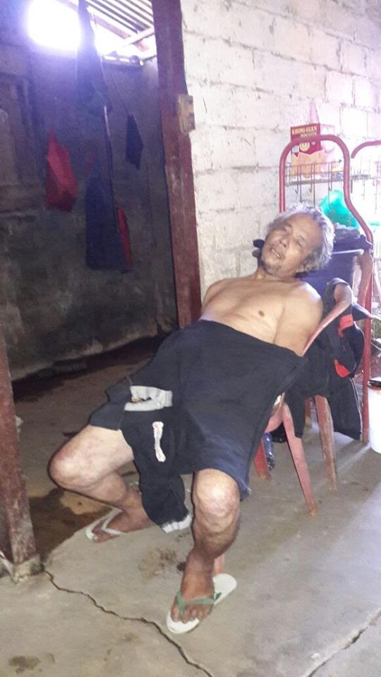 Mayat Tenny Anes saat ditemukan di samping rumah