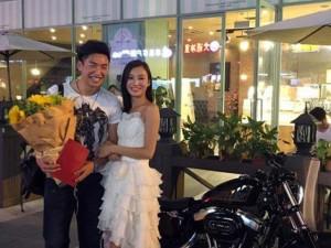 Harley Davidson, china,wanita lamar pria