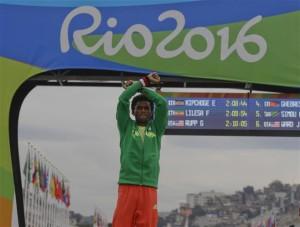 Atlet Ethiopia , Feyisa Lilesa,Ethiopia