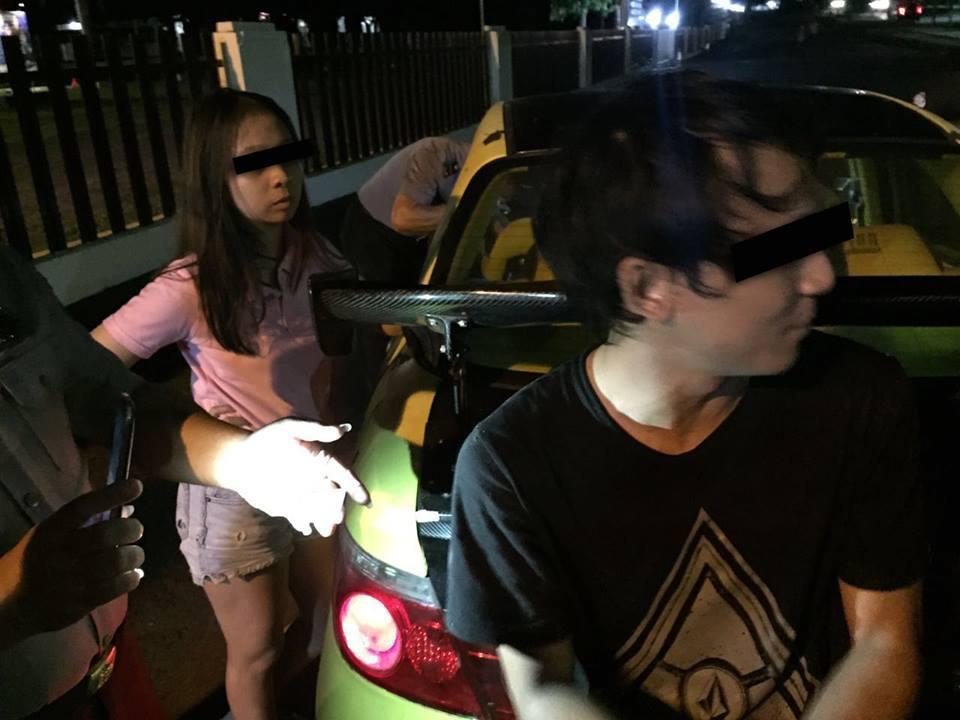 Sepasang muda-mudi yng terjaring diduga telah mengkonsumsi Narkoba