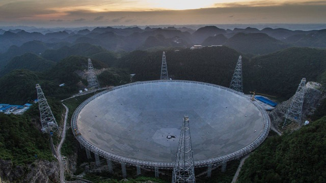 Teleskop Terbesar , Aperture Spherical Telescope ,FAST, china
