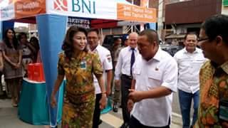 Bupati James Sumendap SH saat peresmian BNI di Minahasa Tenggara
