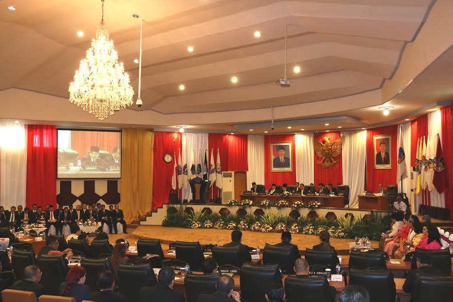 Rapat Paripurna istimewa HUT ke-52 Provinsi Sulawesi Utara