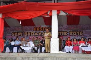 Gubernur Sulawesi Utara, Olly Dondokambey, Festival Seni Budaya Bantik 2016,