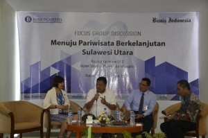 Olly Dondokambey, Forum Group Discussion, Bank Indonesia , Pariwisata Sulut