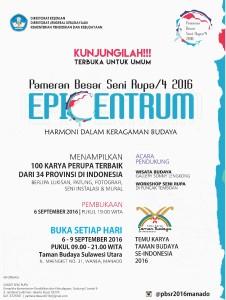 Pameran Besar Seni Rupa , PBSR 2016 , Temu Karya Taman Budaya