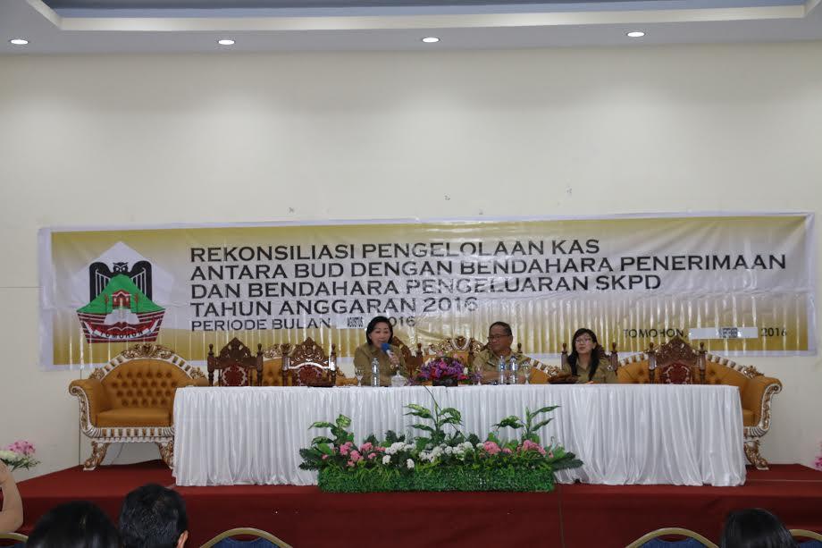Asisten Administrasi Umum, Kadis PPKBMD dan BUD pada Rekonsiliasi Pengelolaan Kas