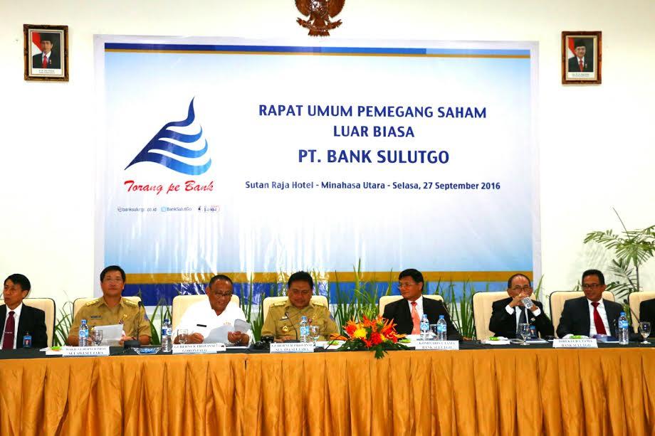 RUPS Bank Sulutgo di Hotel Sutanraja Minahasa Utara