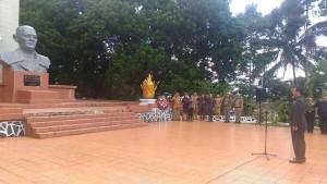 Ziarah yang dilakukan Wakil Gubernur Steven Kandouw bersama jajaran Pemprov Sulut di makam pahlawan nasional DR. Sam Ratulangi
