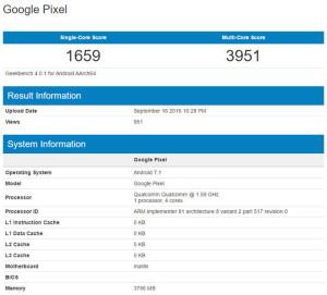 Google Pixel, Android  7.1,  Smartphone Google, Google Pixel XL