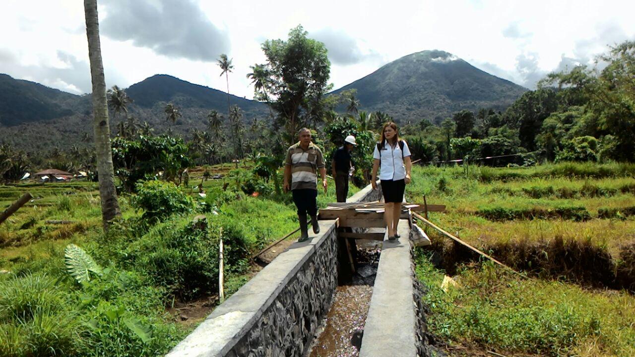 Peninjauan lokasi pembangunan Irigasi Sukomeras Tomohon Barat