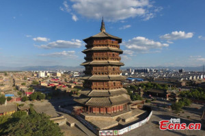 Pagoda Kayu, Guinness World Records, Pagoda Sakyamuni , china