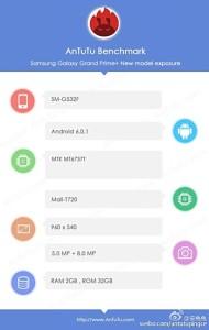 Muncul di AnTuTu, Samsung Galaxy Grand Prime+ Miliki RAM 2 GB dan Kamera 8 MP