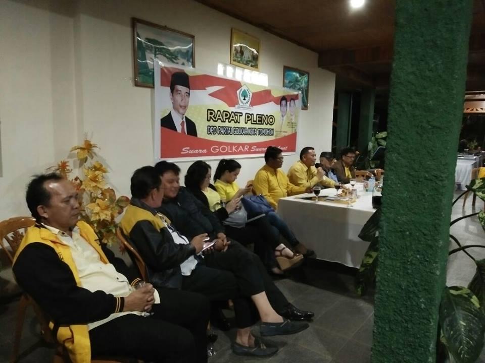 Rapat Pleno DPD Partai Golkar Kota Tomohon